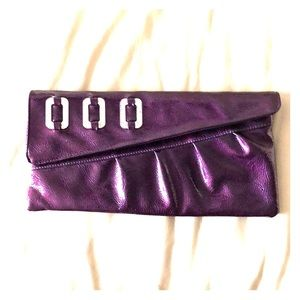 Purple Clutch, Silver Rhinestones